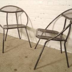 Metal Patio Chair Linen Club Mid Century Chairs By Rid Jid At 1stdibs Modern For Sale