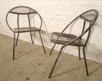 Mid-Century Metal Patio Chairs by Rid-Jid at 1stdibs
