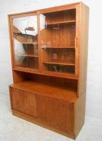 Danish Teak Curio Cabinet  Cabinets Matttroy