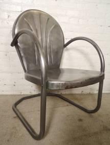 Handsome Bare Metal Patio Chairs 1stdibs