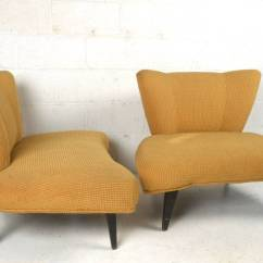 Modern Slipper Chair Covers Bulk Pair Of Vintage Chairs By Kroehler For Sale At 1stdibs This Beautiful Features A Wonderful Design Aesthetic And Quality Covering