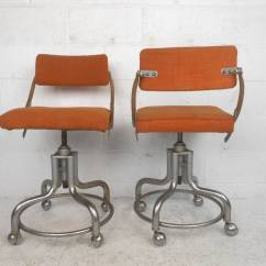 Rolling Stool Chair Best Home Computer Pair Of Midcentury Chairs By Domore For Sale At