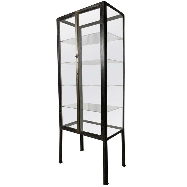 Industrial Metal Apothecary Cabinet at 1stdibs