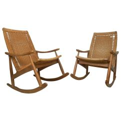 Mid Century Modern Rocking Chair Moon Chairs For Adults Wegner Style Sale At