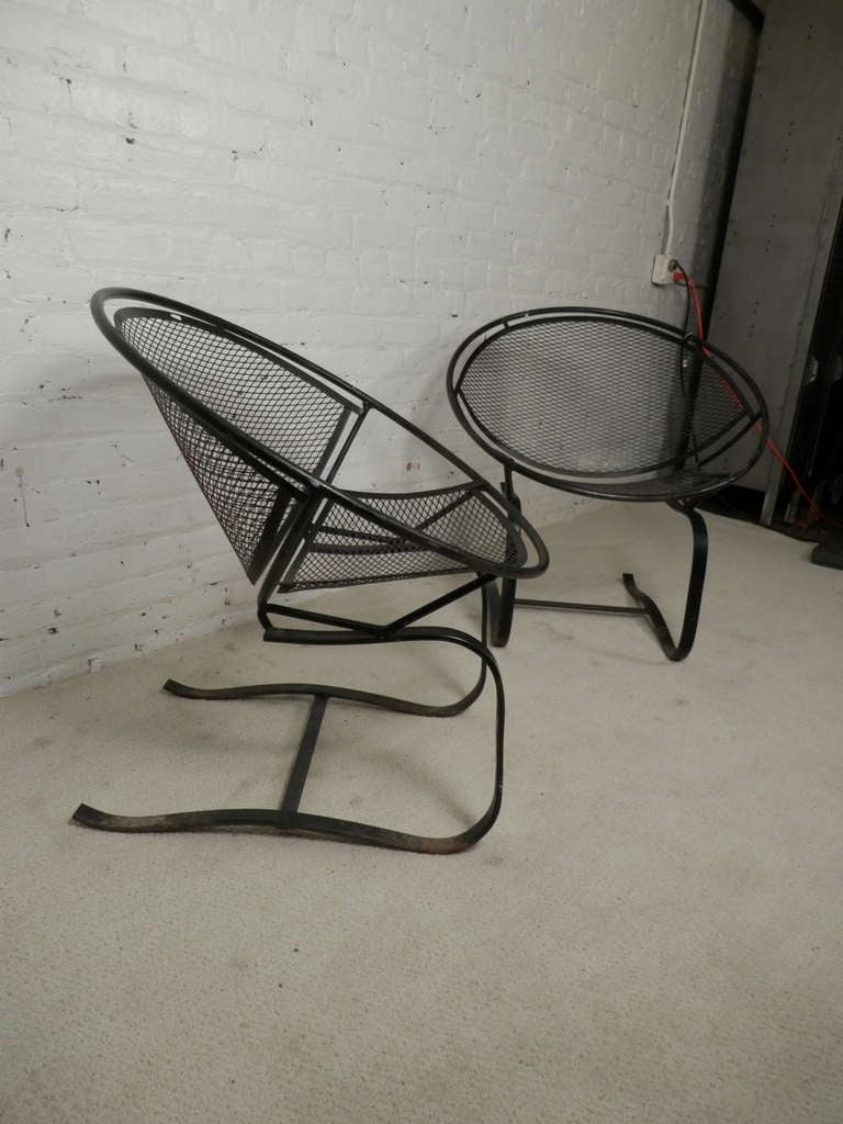 mid back mesh chair outside cushions maurizio tempestini salterini clamshell patio chairs at 1stdibs