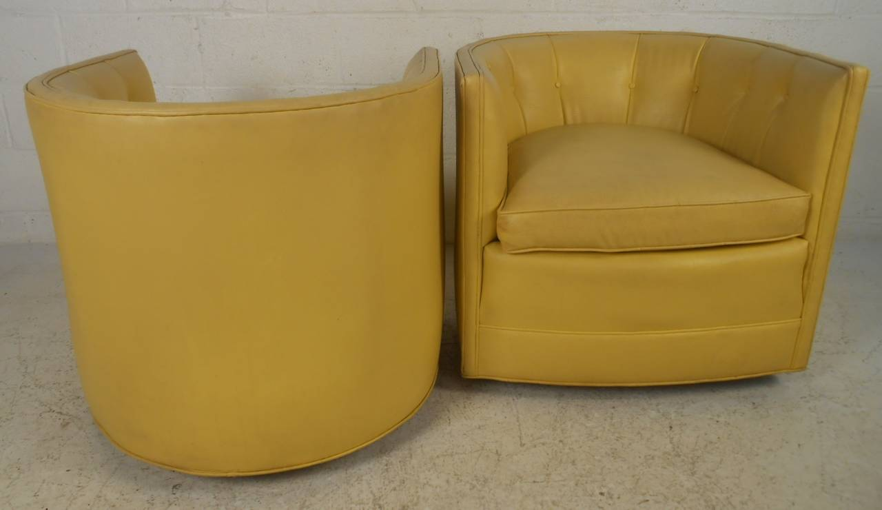 yellow chairs for sale kids soft chair pair of mid century modern tub by henredon at american