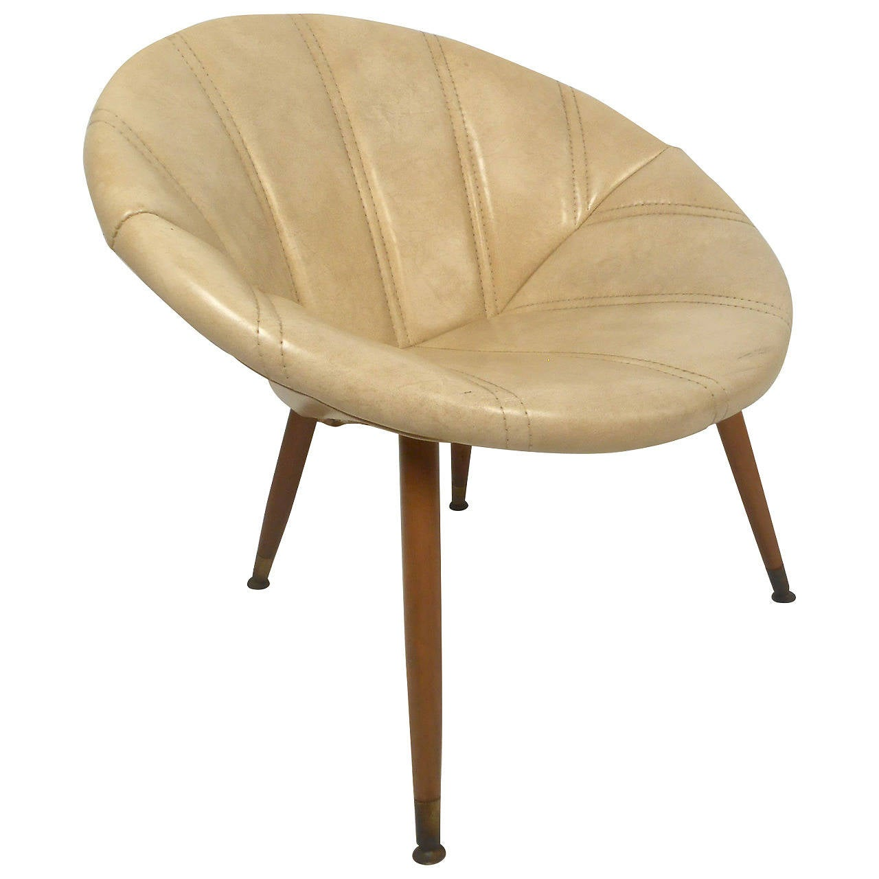 saucer chair for kids crushed velvet covers round midcentury sale at 1stdibs