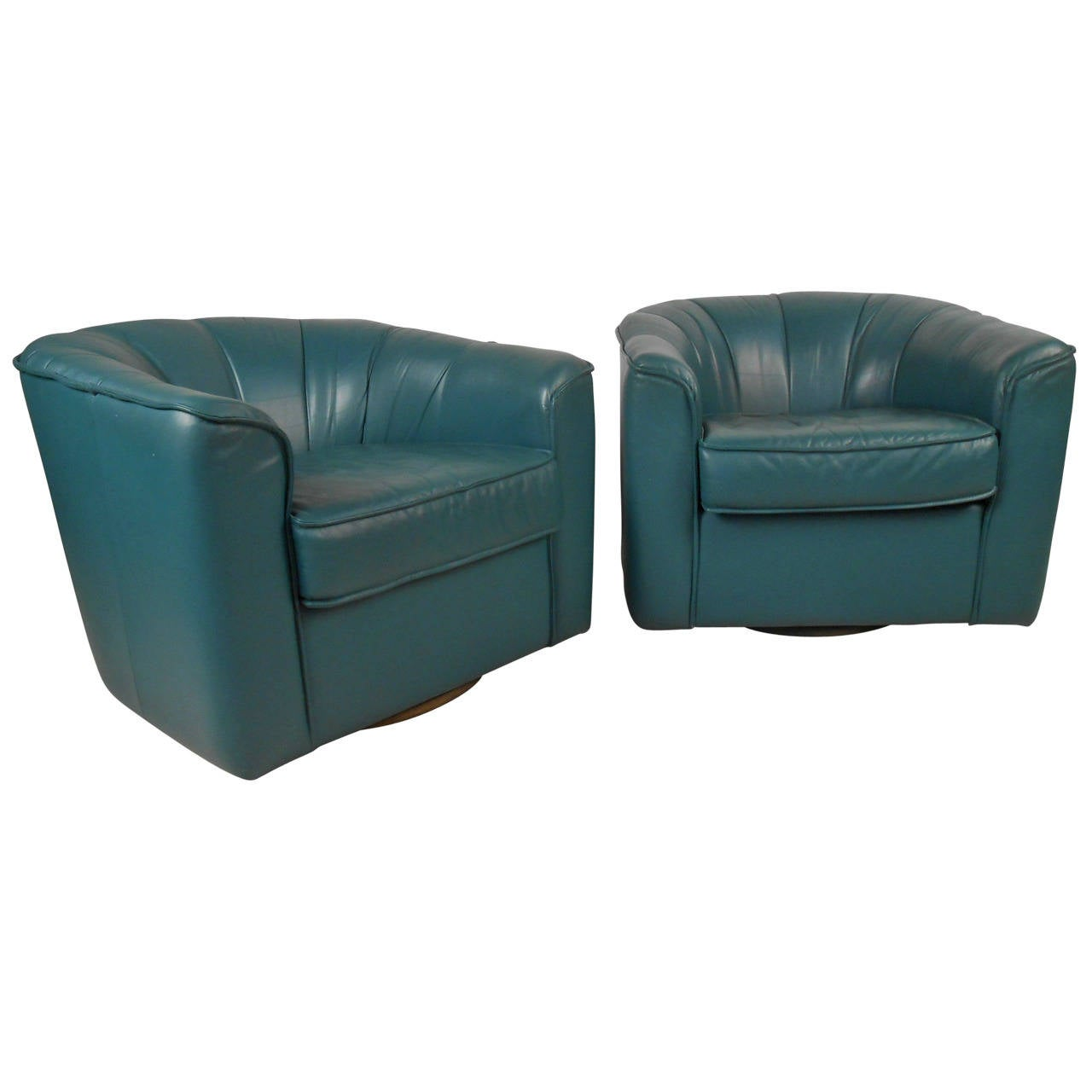 Contemporary Swivel Chairs Pair Contemporary Modern Swivel Club Chairs For Sale At