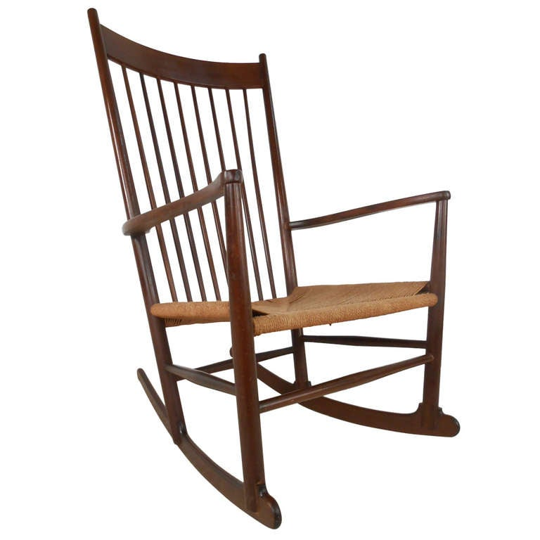 hans wegner rocking chair office deal j 16 style midcentury for sale at 1stdibs