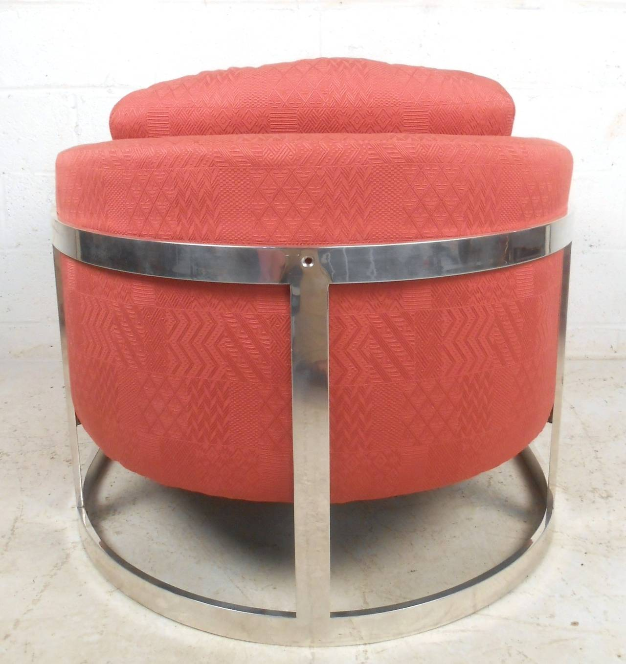 Modern Barrel Chair Mid Century Modern Floating Barrel Back Lounge Chair By