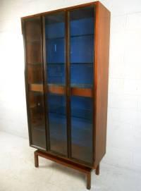 Custom Mid-Century Modern Rosewood Display Cabinet by ...