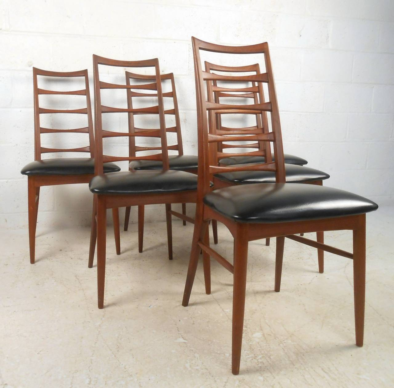ladder back dining chairs office chair kelowna set of niels koefoed for raymor