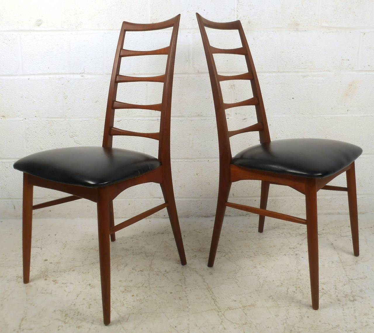 ladder back dining chairs jfk rocking chair set of niels koefoed for raymor