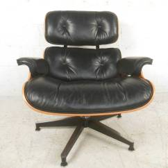 Swivel Club Chair With Ottoman Upholstered French Herman Miller 670 Lounge At 1stdibs