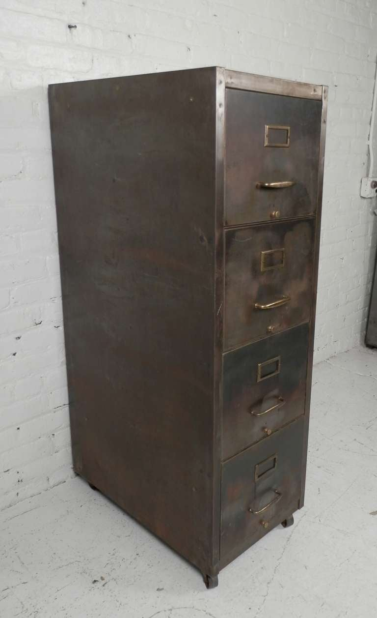 Large Metal Rolling File Cabinet At 1stdibs