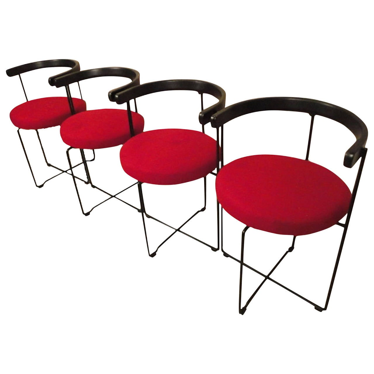 circular chairs for sale wooden skull chair four mid century modern style round back