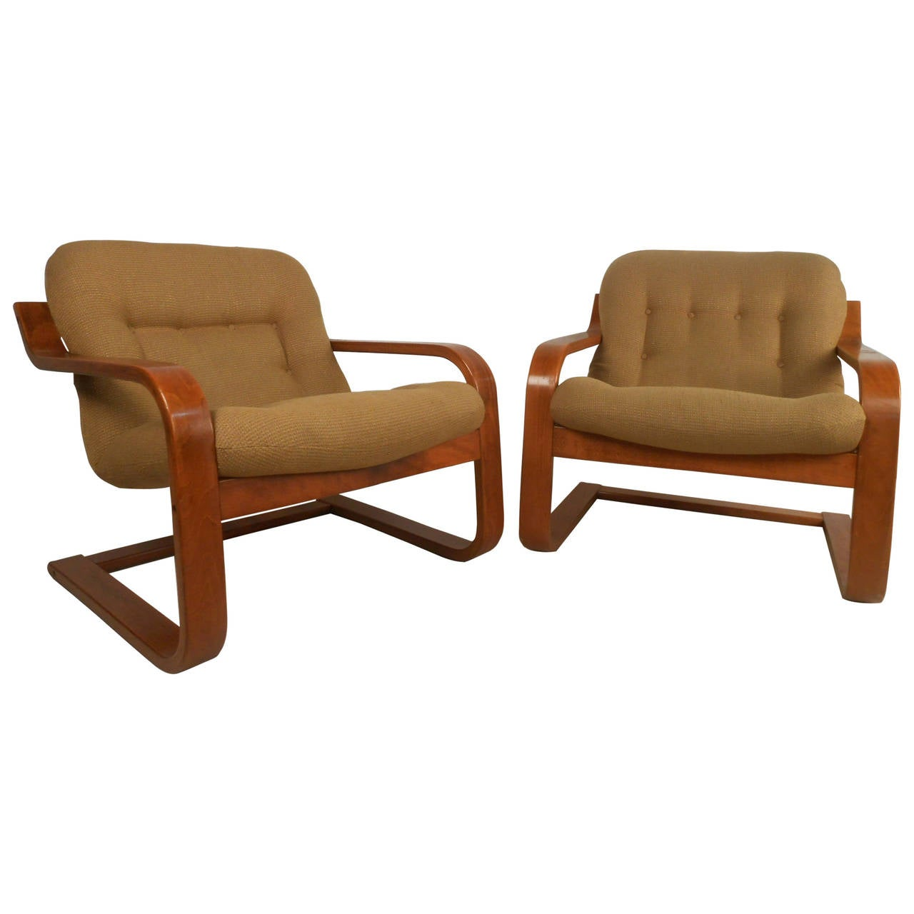 modern chairs folding chair effect pair of midcentury scandinavian westnofa bentwood