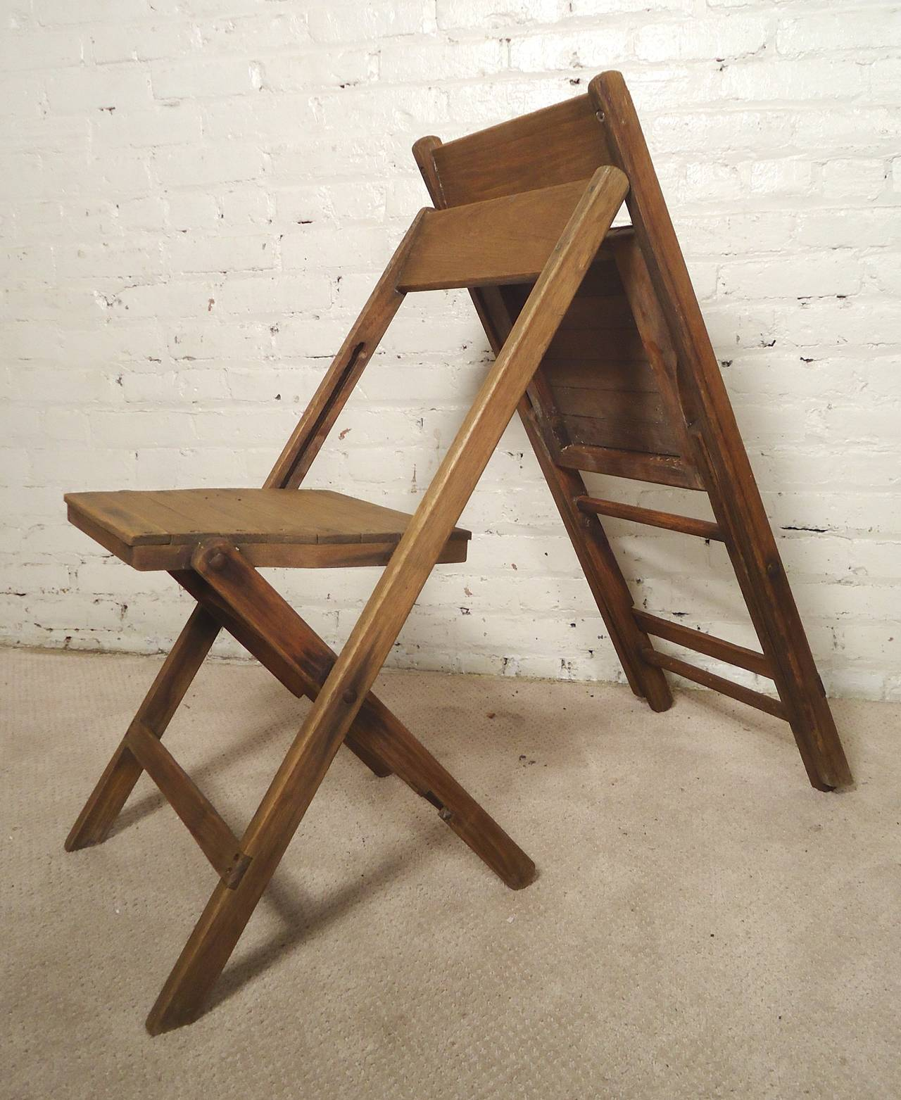 folding chairs for sale desk with 2 classic all wood at 1stdibs