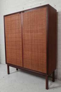 Early Knoll Cane Front Cabinet at 1stdibs