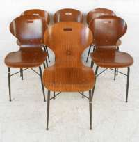 Italian Modern Dining or Student Chairs For Sale at 1stdibs
