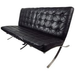 Barcelona Sofa Mid Century Modern Style Sofas Ludwig Mies Van Der Rohe At For Sale