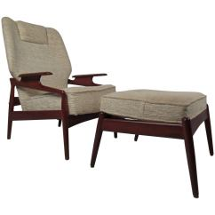 Modern Lounge Chair And Ottoman Set Rocking Benefits Danish Reclining For Sale