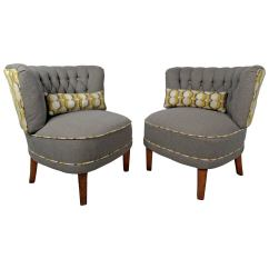 Modern Slipper Chair Folding Enclosure Pair Of Chairs For Sale At 1stdibs