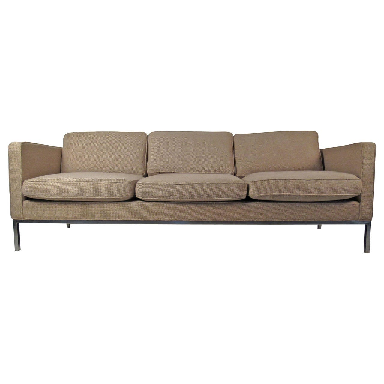 recover sofa cushions rh sofas reviews mid-century modern in the style of knoll for sale at ...