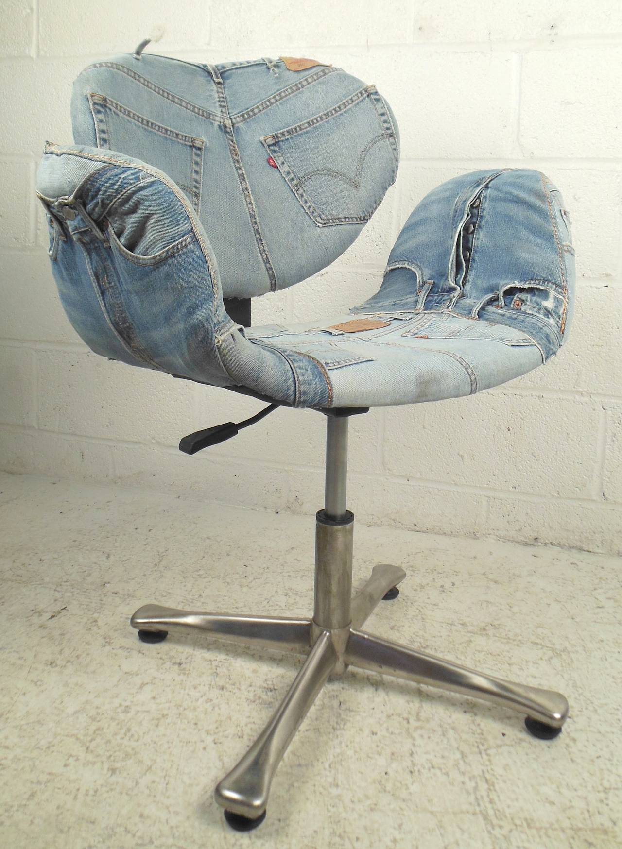 Denim Chairs Wild Denim Covered Arne Jacobsen Style Chair For Sale At