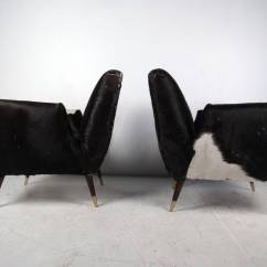 Cowhide Chairs Modern Kids Recliner Pair Of Mid Century Lounge At 1stdibs