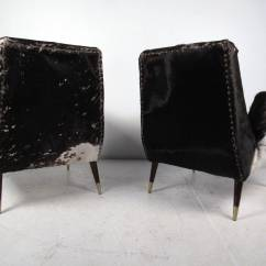 Cowhide Chairs Modern Chair Cover Hire Basingstoke Pair Of Mid Century Lounge At 1stdibs