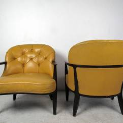 Tufted Yellow Chair Desk Best Pair Of Chairs By Dunbar For Sale At 1stdibs