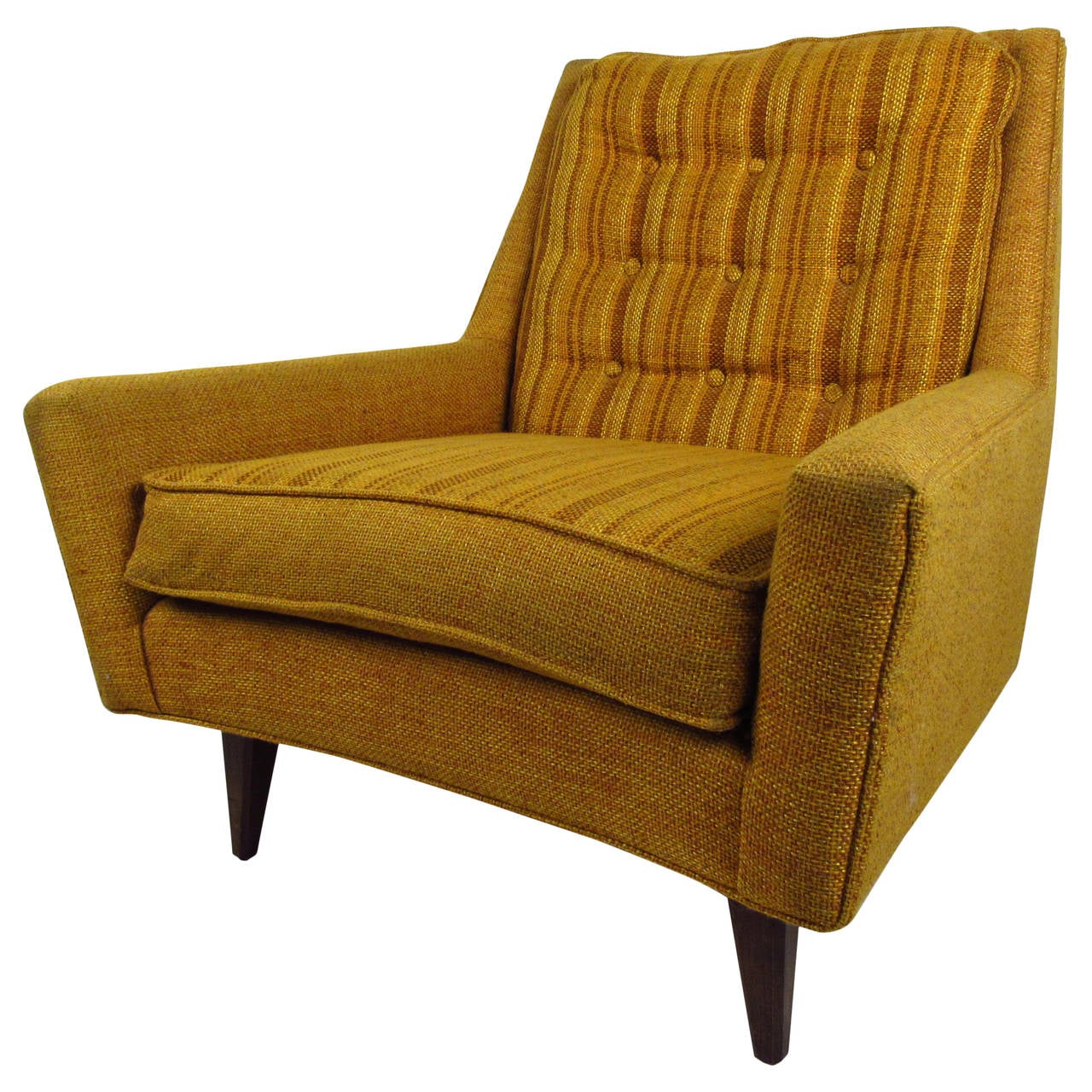 Midcentury Chairs Mid Century Modern Upholstered Lounge Chair With Tufted