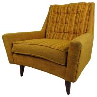 Mid-Century Modern Upholstered Lounge Chair with Tufted ...