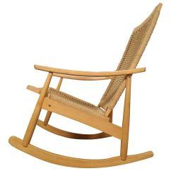 Hans Wegner Rocking Chair Toilet Height Vs Standard Style Rope At 1stdibs