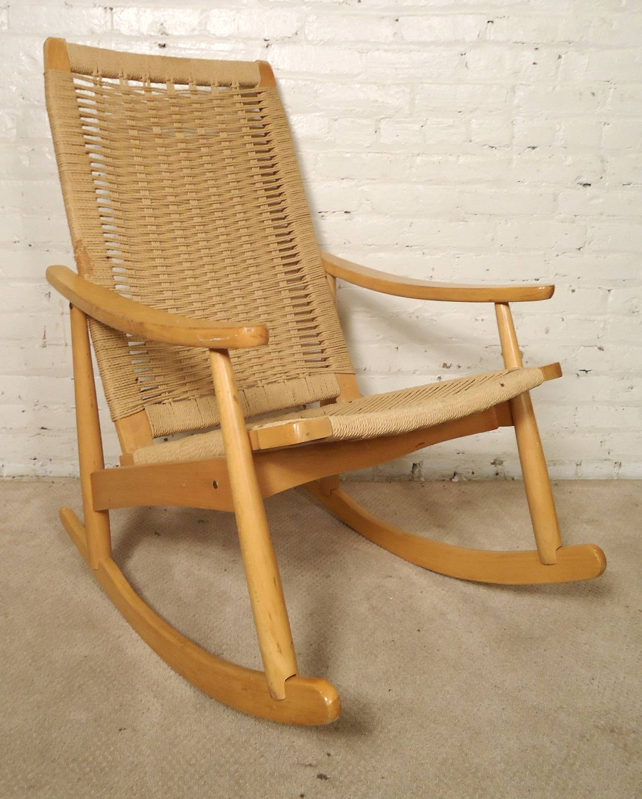 hans wegner rocking chair table and chairs kids style rope at 1stdibs