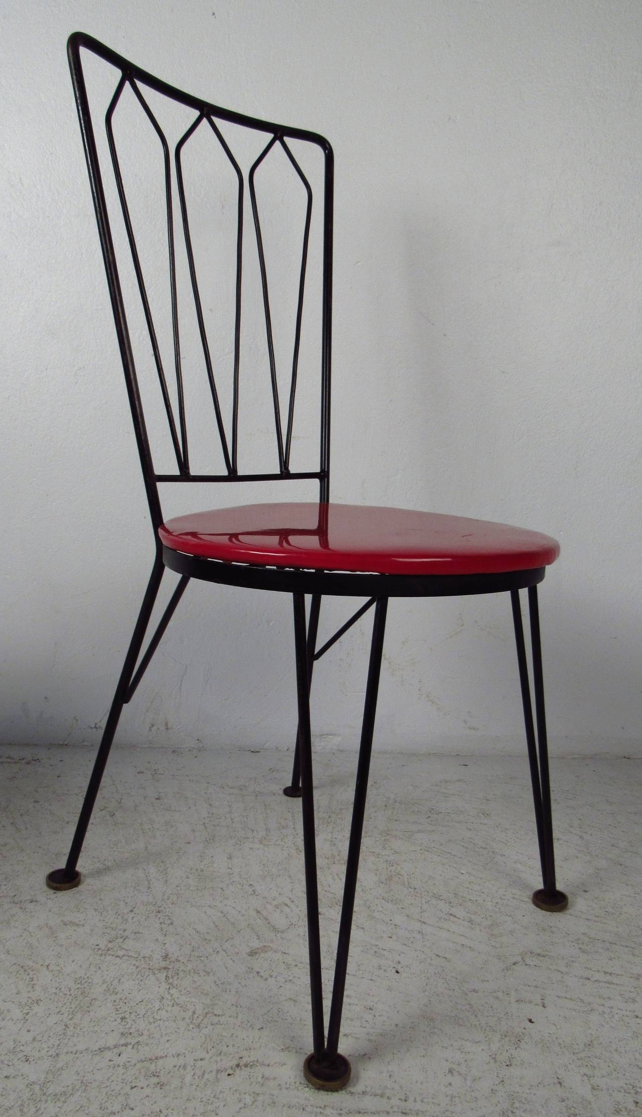 metal restaurant chairs pod hanging chair 1950s dining for sale at 1stdibs