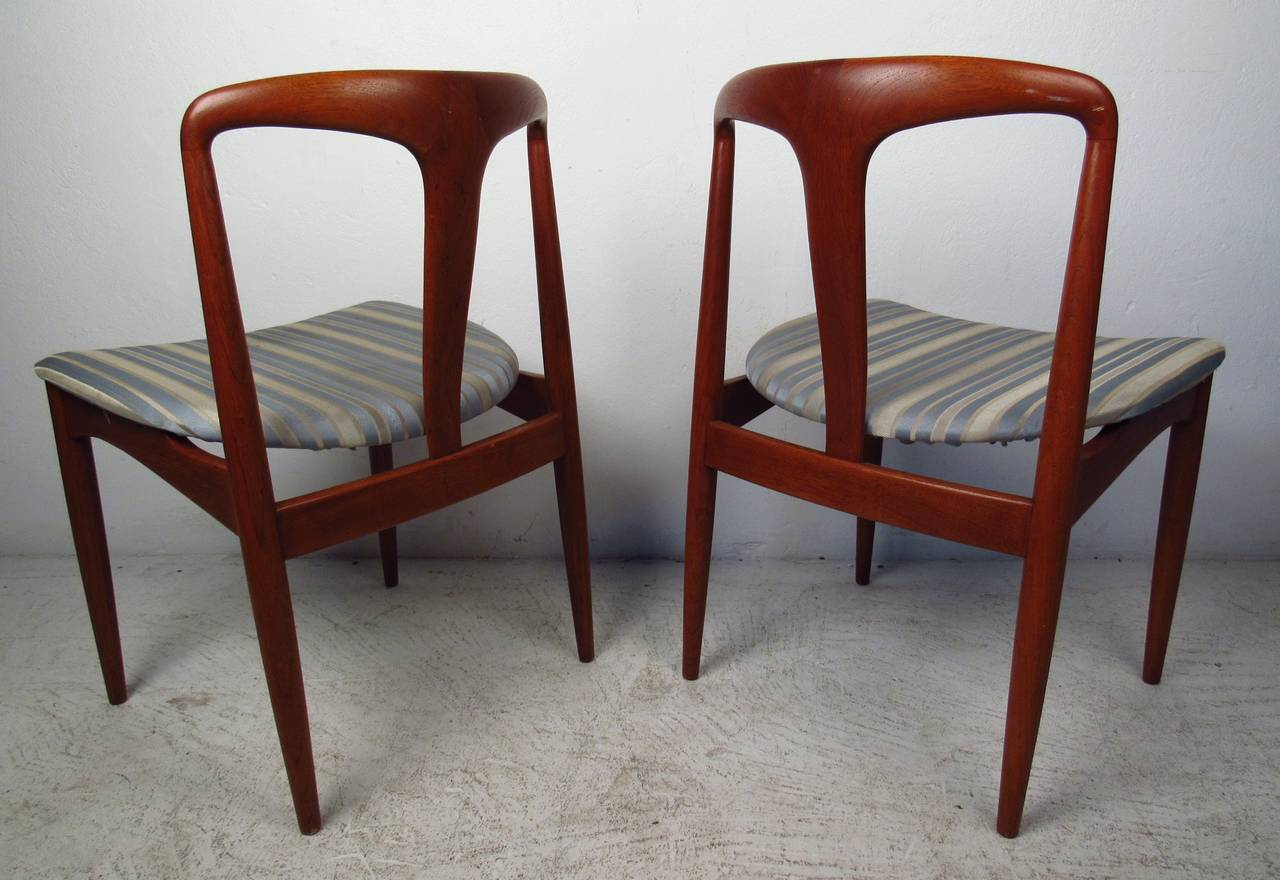 teak dining room chairs for sale distressed leather armchair uk by johannes andersen at 1stdibs