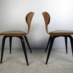 Modern Bentwood Chairs Steel Tube Chair Pair Of Mid Century In The Style