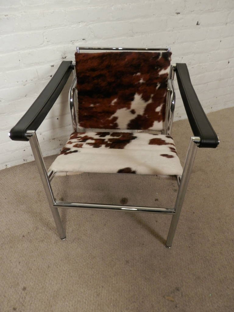Cow Hide Chair Mid Century Le Corbusier For Cassina Italian Cow Hide Chair