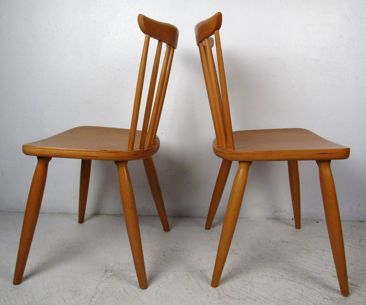 img chairs for sale covers dining room chair backs mid century pair of paul mccobb style maple