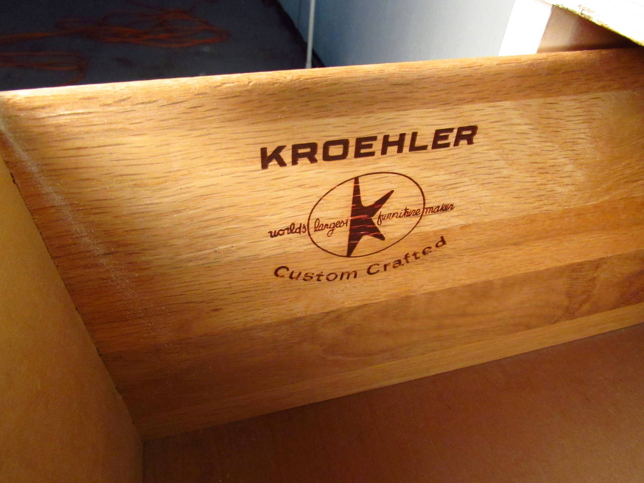 White FourDrawer Low Dresser by Kroehler Furniture at 1stdibs