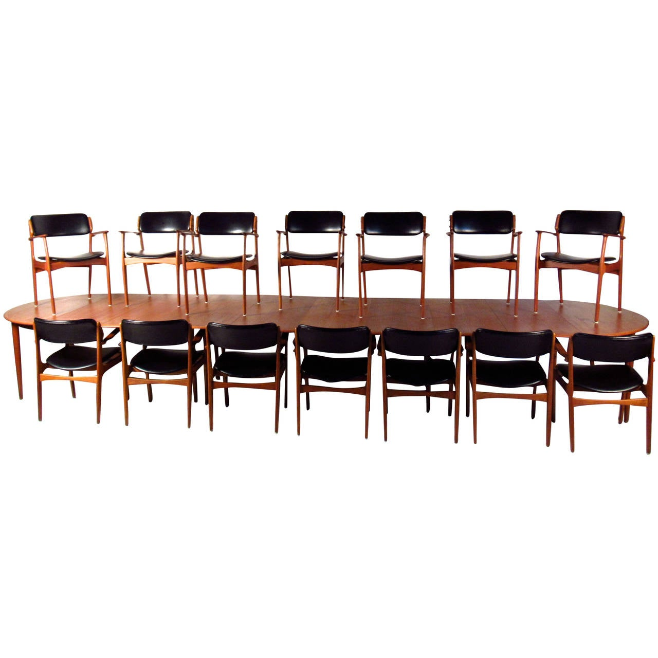 conference chairs for sale wheelchair jimmy massive mid century teak table with eric buck