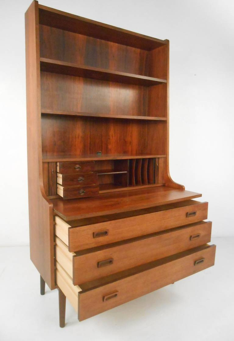 Danish Bookcase Desk In Rosewood For Sale At 1stdibs