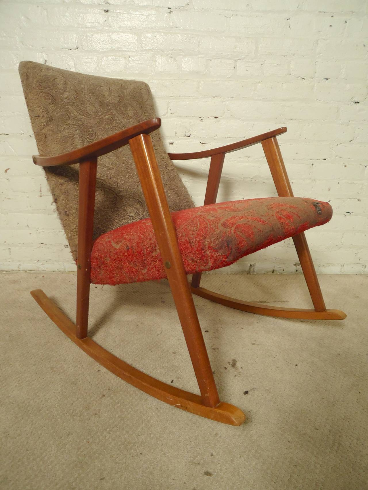 mid century rocker chair swing gumtree perth rocking for sale at 1stdibs