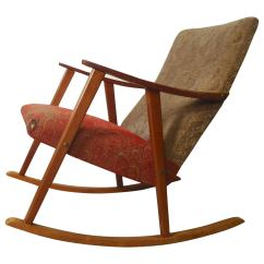 Rocking Chairs For Sale How To Reupholster A Dining Room Chair Cushion Mid Century At 1stdibs