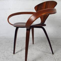 Modern Bentwood Chairs Gray Upholstered Chair Mid Century Norman Cherner For Plycraft