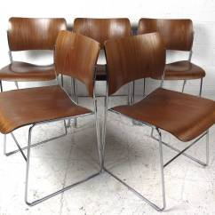 40 4 Chair Covers Sydney Buy Set Of Midcentury Stackable Chairs By David Rowland