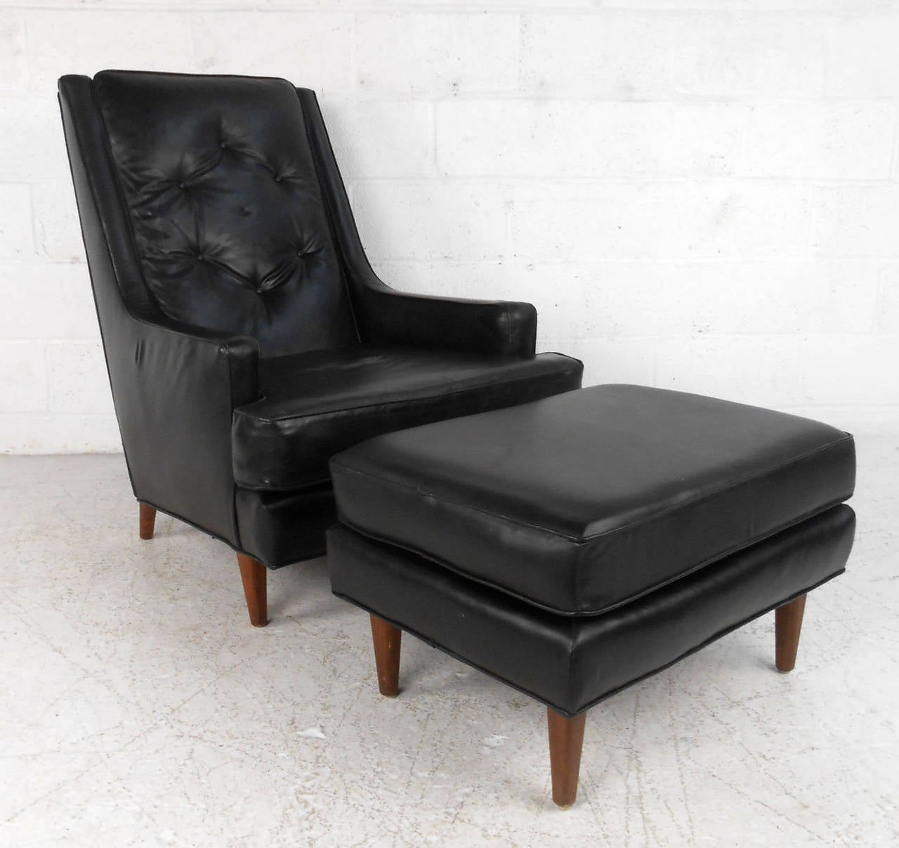 Mid Century Chair And Ottoman Mid Century Modern Tufted Lounge Chair With Ottoman For