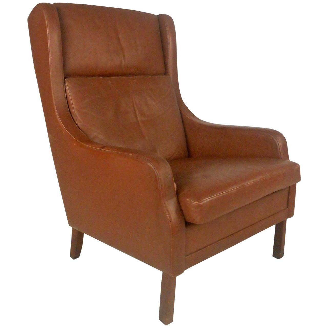 vintage designer chairs chair covers cotton unique mid century modern leather danish lounge